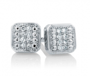 silver diamond studs - michael hill