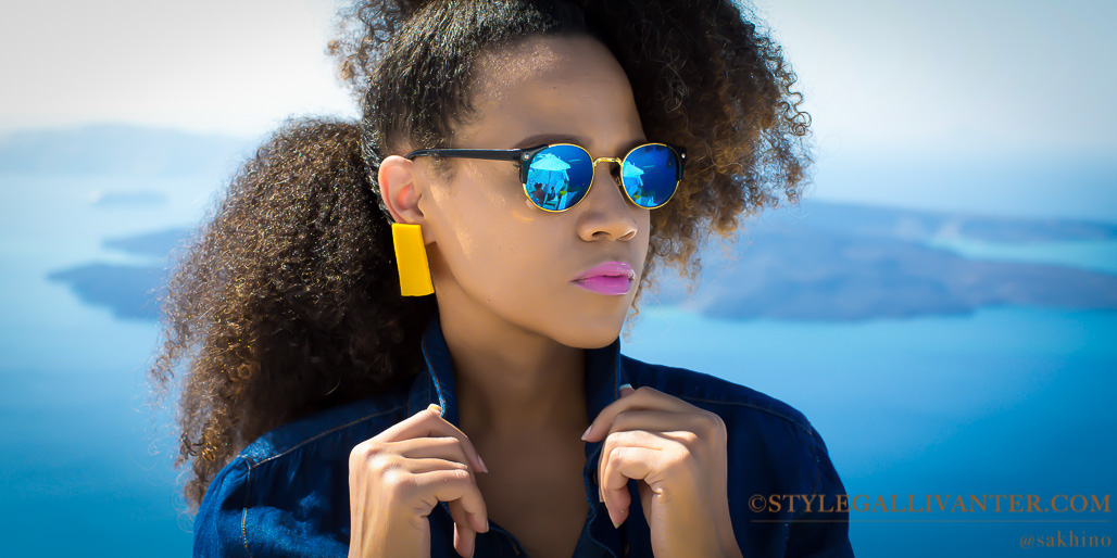 colourful accessories, top-south-african-fashion-influencers_best-natural-hair-bloggers-africa-2016_yellow-earrings