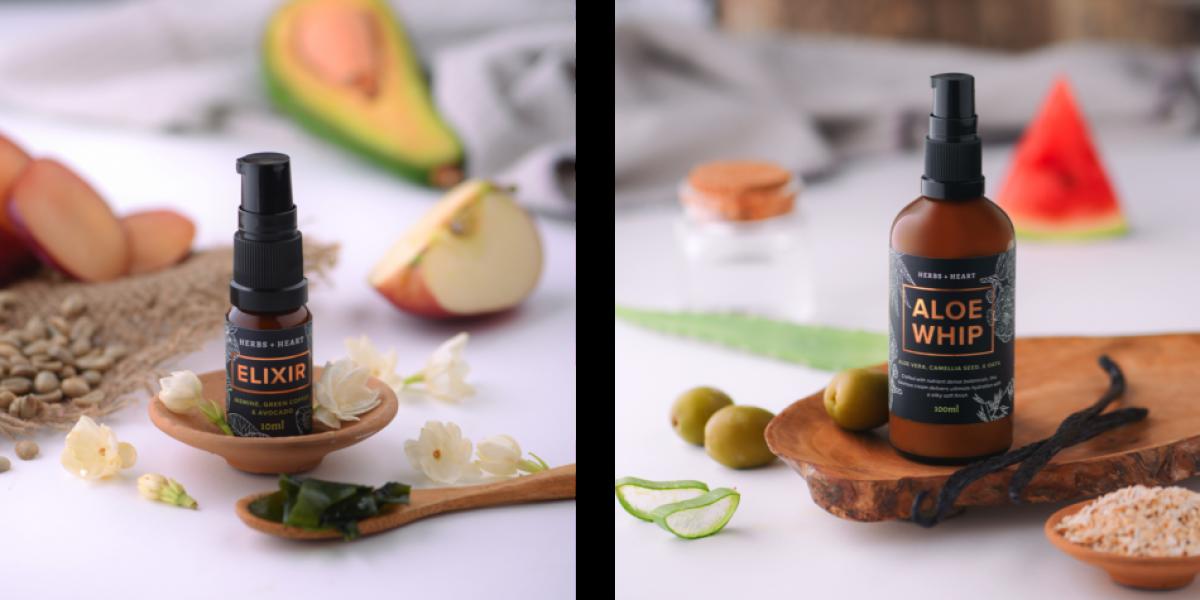morning greens skin products, herbs and heart elixir, herbs and heart moisturiser 2